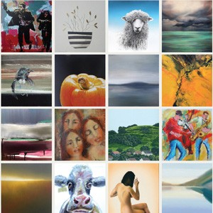 Parnell Gallery annual christmas exhibition of small paintings