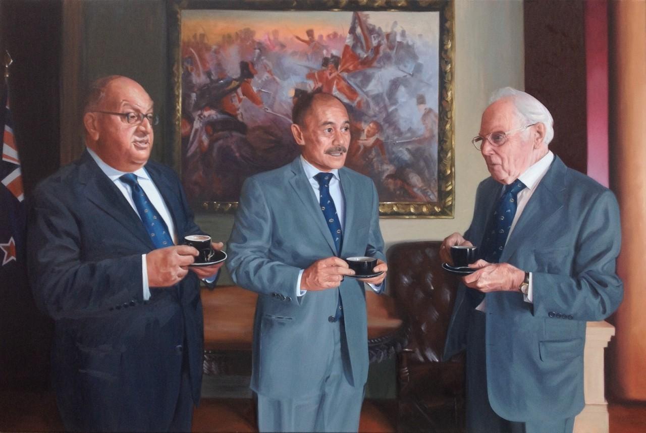Wellington Boys Club, 2014, Oil on Canvas, 1864 x 1220mm