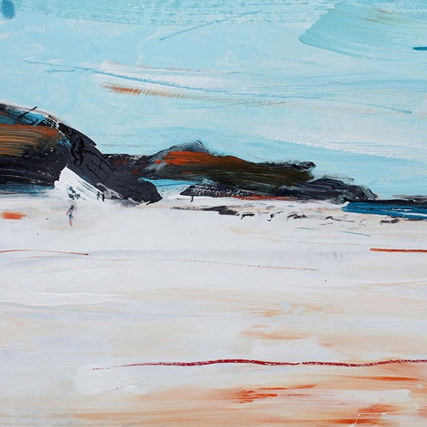 Christian Nicolson expressive contemporary new Zealand painter of colourful landscapes