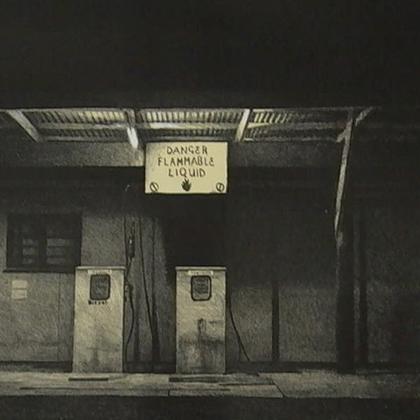 Parnell Gallery Auckland Artwork for sale Night Station Lithograph by Grahame Sydney