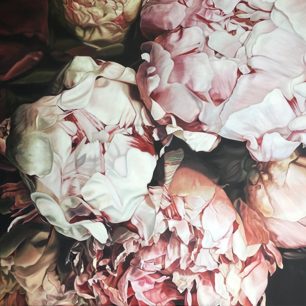 Floral paintings by NZ artist Rochelle Andrews