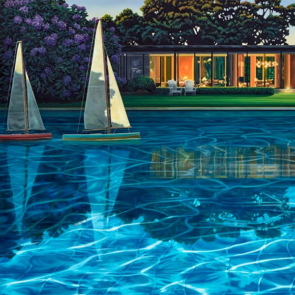 Ross Jones original realist oil painting Line Honours available at Parnell Gallery Auckland New Zealand
