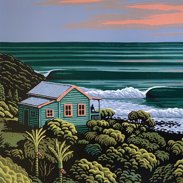 Tony Ogle is a New Zealand contemporary landscape painter and printmaker specialising in coastal scenes