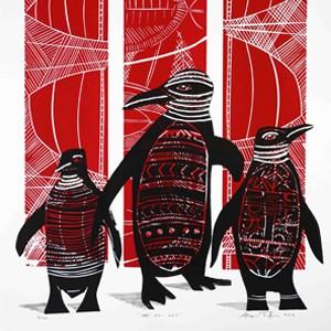 Parnell Gallery Auckland Artwork for sale III Hoi Hos (Red) Sheyne Tuffery