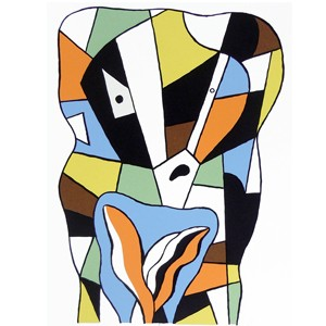 Legerdemain limited edition abstract print by New Zealand Artist Dick Frizzell