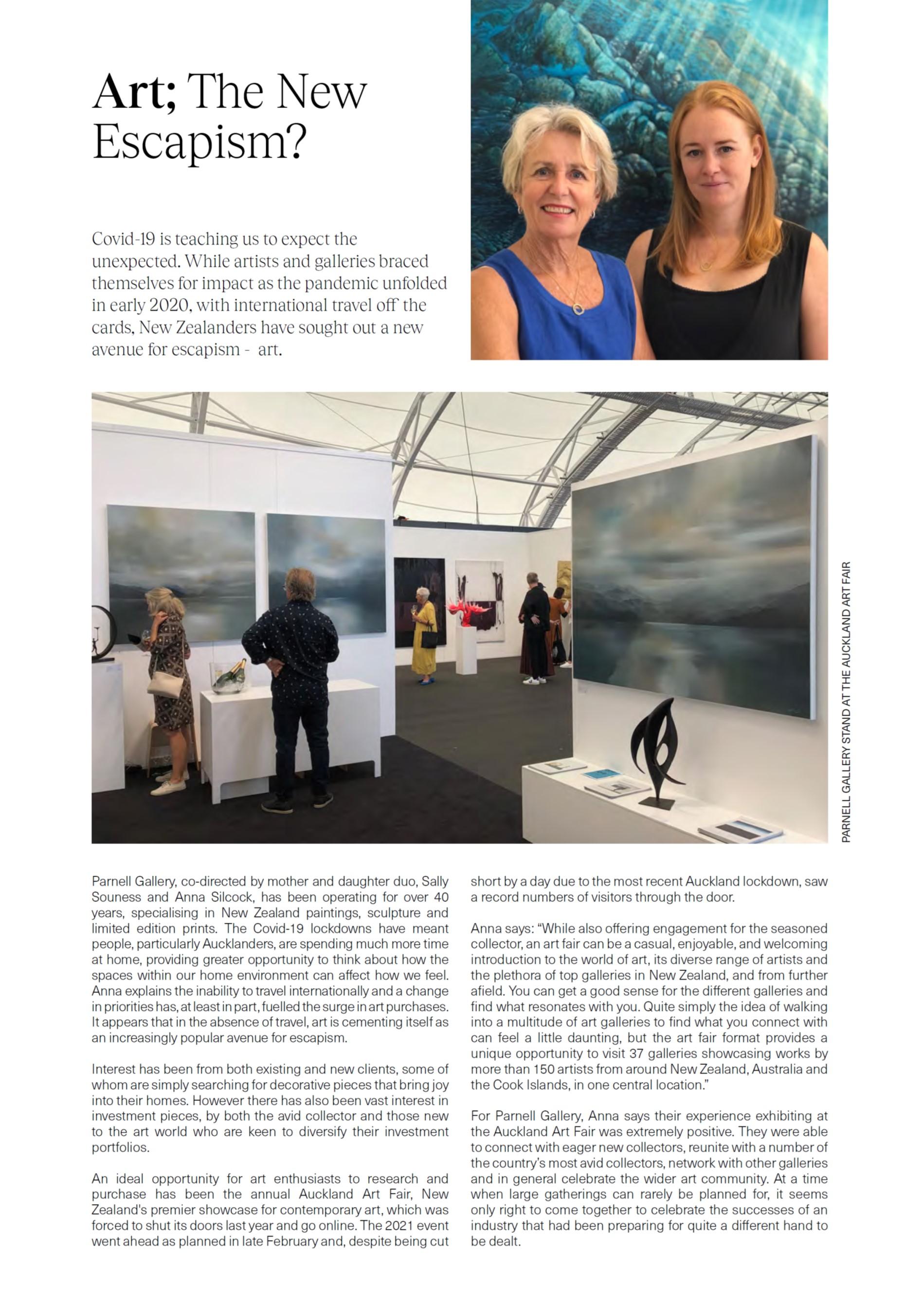 Art; the new escapism? Verve Magazine