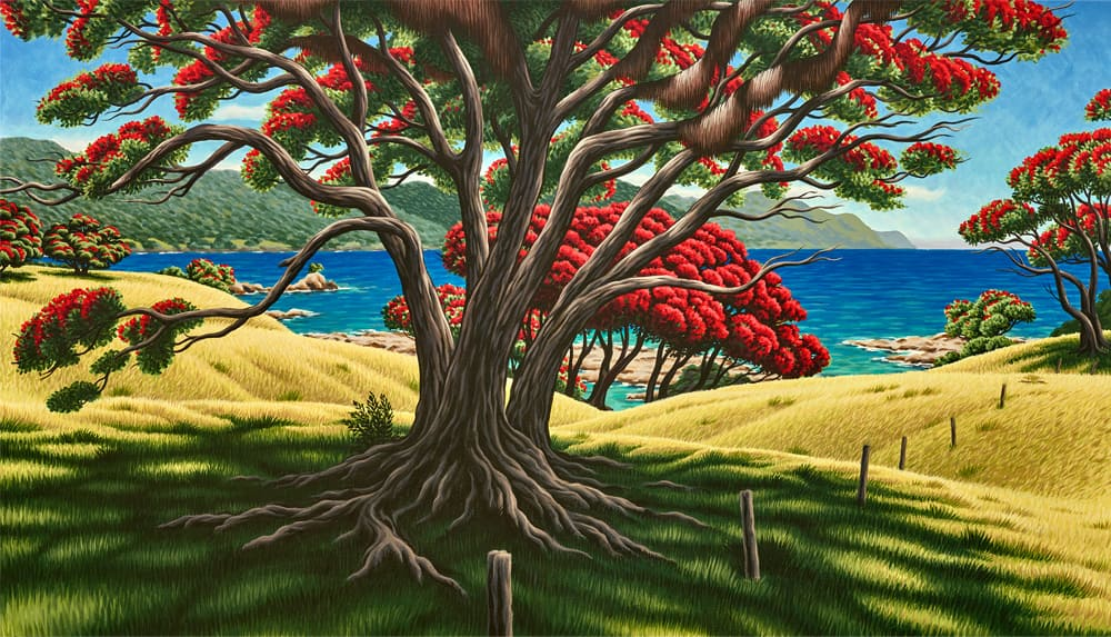 Tony Ogle, Limited Edition - Old Man Pohutukawa - Lottin Point East Cape - Giclee Print, Parnell Gallery Auckland NZ