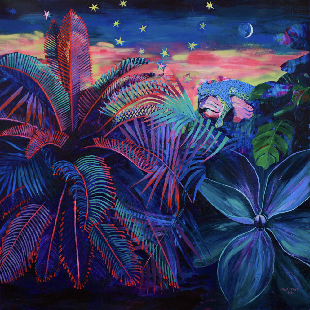 Claire Price, Painting - Neon Jungle - Acrylic on Canvas, Parnell Gallery Auckland NZ